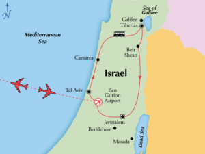 Essential Israel map